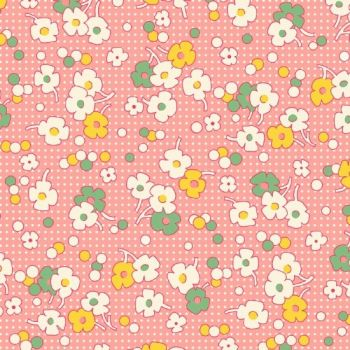Henry Glass & Co ~ Nana Mae ~ Floral Dot Pink