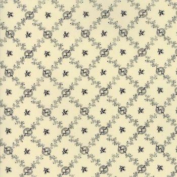Moda Fabrics ~ Evelyn's Homestead 1880-1900 ~ Homestead Porcelain Black