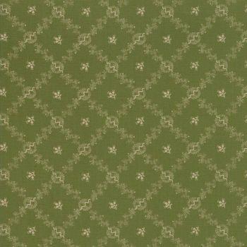 Moda Fabrics ~ Evelyn's Homestead 1880-1900 ~ Homestead Spring Leaf