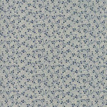 Moda Fabrics ~ Evelyn's Homestead 1880-1900 ~ Spreading Phlox Porcelain Indigo