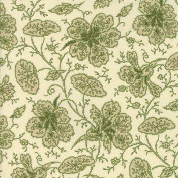 Moda Fabrics ~ Evelyn's Homestead 1880-1900 ~ Wild Rose Porcelain Spring Leaf