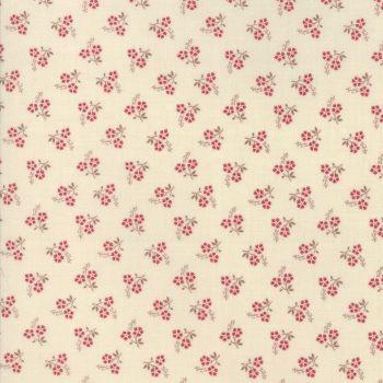 Moda Fabric ~ Jardin de Versailles ~ Rose in Pearl and Rouge