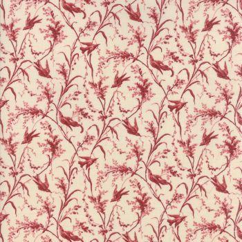 Moda Fabric ~ Jardin de Versailles ~ La Voie in Pearl and Rouge