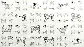 Moda Fabric ~ Savannah ~ Critters Panel