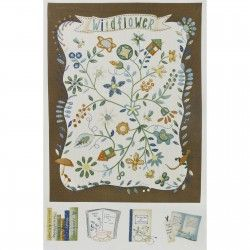 Lecien ~ American Country ~ Wildflower Panel Brown