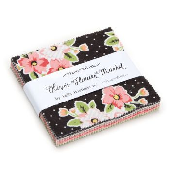 Moda Pre-cuts ~ Charm Pack ~ Olive's Flower Market