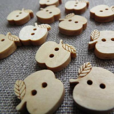 Apple Wooden Buttons