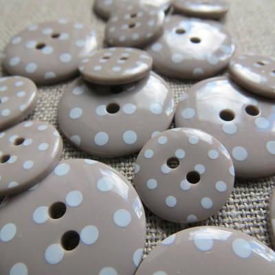 Mocha Polka Dot Buttons