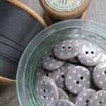 Polka Dot Buttons ~ Mocha