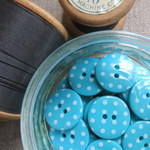 Polka Dot Buttons ~ Turquoise