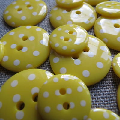 Yellow Polka Dot Buttons