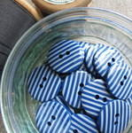 Navy Stripey Buttons