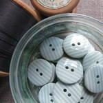 Mint Stripey Buttons