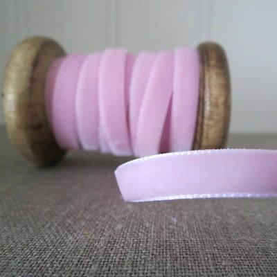Berisfords Velvet Ribbon ~ Baby Pink