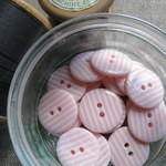 Pink Stripey Buttons