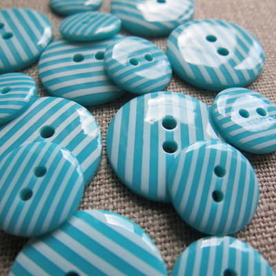 Turquoise Stripey Buttons
