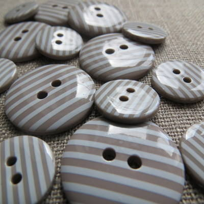 Mocha Stripey Buttons