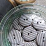 Mocha Stripey Buttons