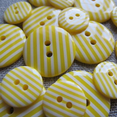 Yellow Stripey Buttons