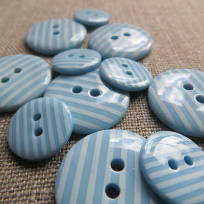Sky Stripey Buttons