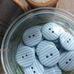 Sky Stripey Buttons