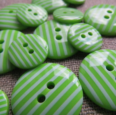Green Stripey Buttons
