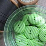 Green Stripey Buttons