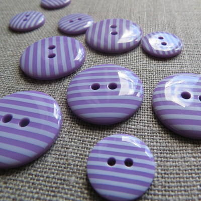 Purple Stripey Buttons