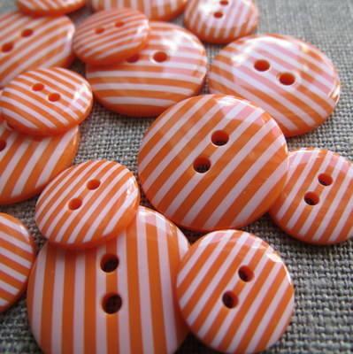 Orange Stripey Buttons