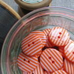Orange Stripey Buttons