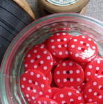 Polka Dot Buttons ~ Red