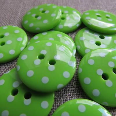 Green Polka Dot Buttons