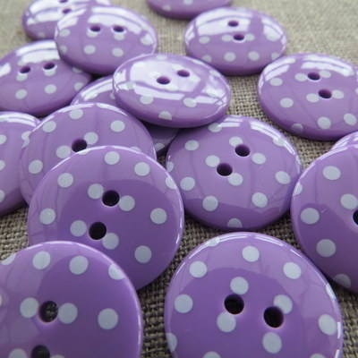 Purple Polka Dot Buttons