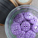 Polka Dot Buttons ~ Purple