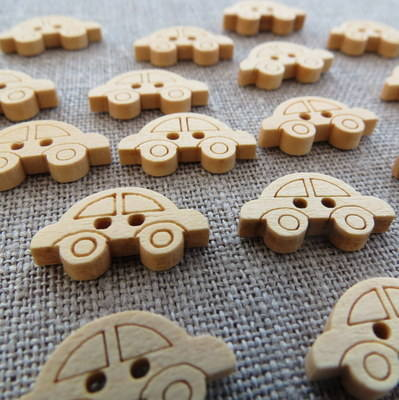 Car Wooden Buttons