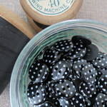 Polka Dot Buttons ~ Black