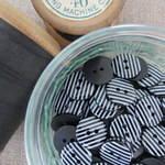 Black Stripey Buttons