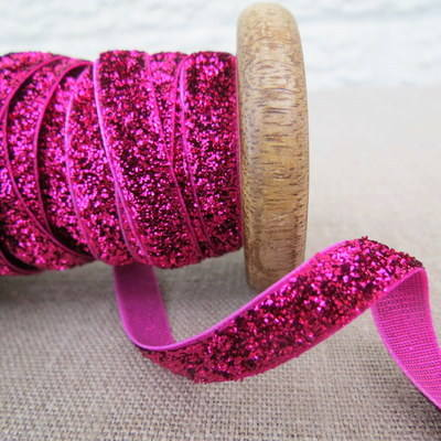 May Arts Ribbon ~ Metalic Velvet ~ Fuchsia Pink