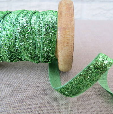 May Arts Ribbon ~ Metalic Velvet ~ Green