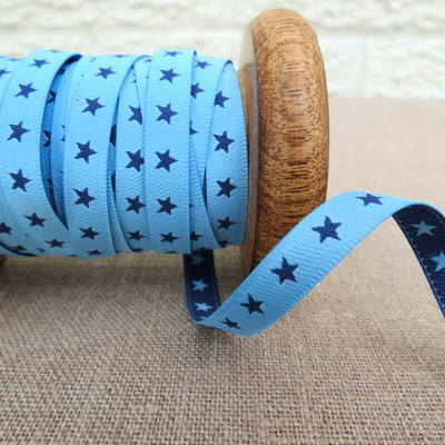 Farbenmix Woven Ribbon ~ Stars in Blue and Navy