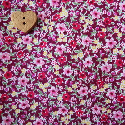 Sevenberry Fabric ~ Blossom in Wine