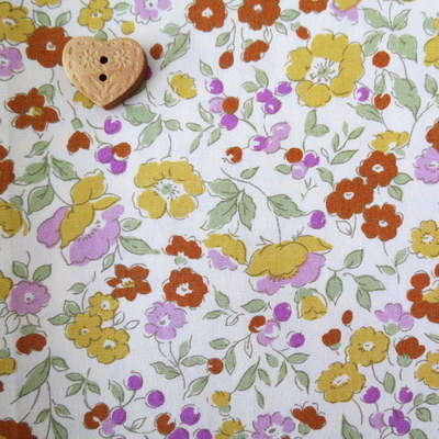 Sevenberry Fabric ~ Flower Meadow Yellow