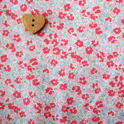 Sevenberry Fabric ~ Ditsy in Pink and Aqua