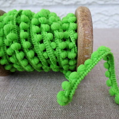 Mini Pom Pom Trim ~ Apple Green