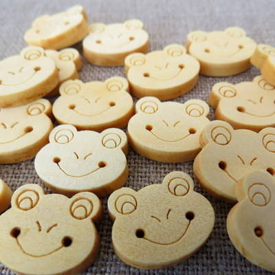 Frog Wooden Buttons