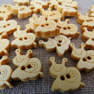 Snail Wooden Buttons