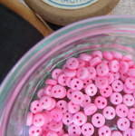 Teeny Buttons ~ Pink
