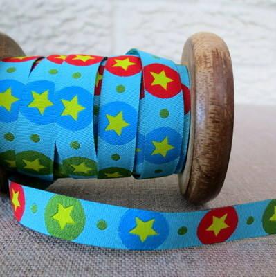 Farbenmix Woven Ribbon ~ Stars and Dots