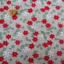 Marcus Brother Fabrics ~  Aunt Grace Miniatures ~ Flower Green and Red