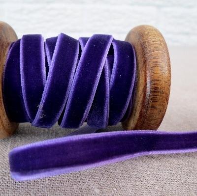 May Arts Velvet Ribbon ~ 10mm ~ Dark Violet